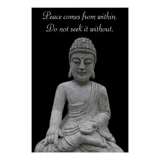 Peace Comes From Within Poster