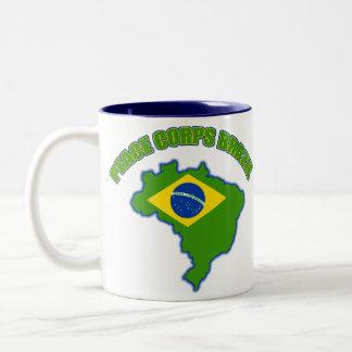 Peace Corps Brazil Two-Tone Coffee Mug