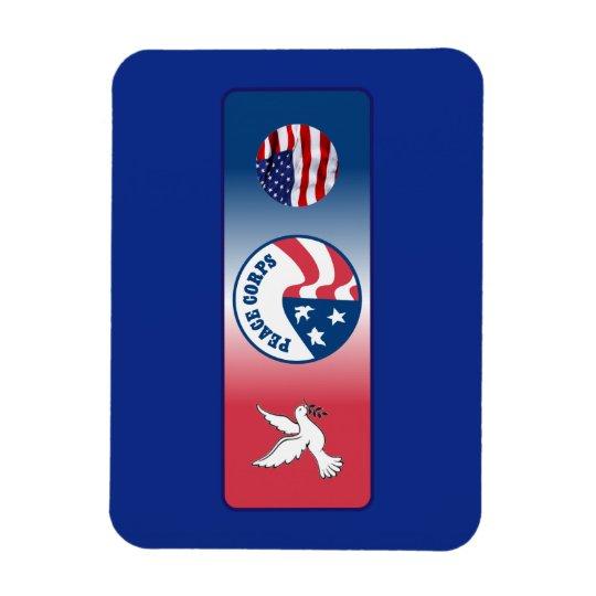 Peace Corps Dove Shield Rectangular Photo Magnet