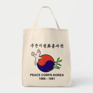 Peace Corps Korea Organic Grocery Tote