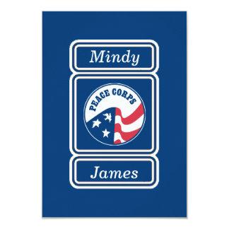 Peace Corps Wedding Insert Card 9 Cm X 13 Cm Invitation Card
