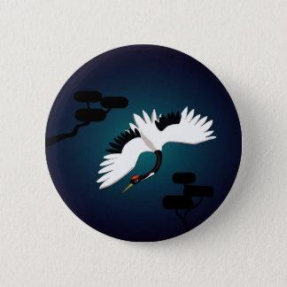 Peace Crane 6 Cm Round Badge