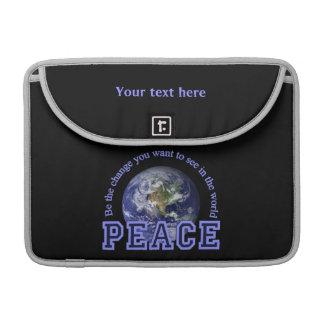PEACE custom MacBook sleeve