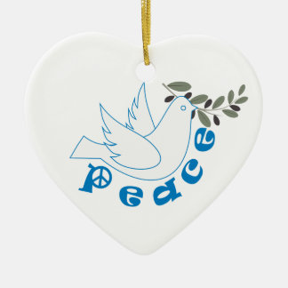Peace custom ornament