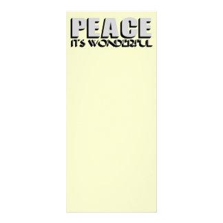 peace customized rack card