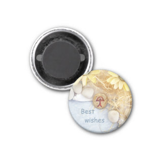Peace design best wishes fridge magnet