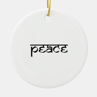 Peace Design on Sanskrit Style Round Ceramic Decoration