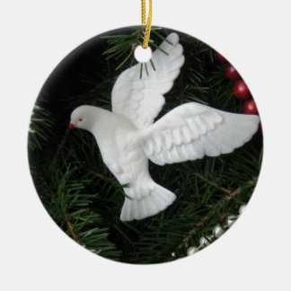 Peace Dove Christmas Ornament, photograph Christmas Ornament