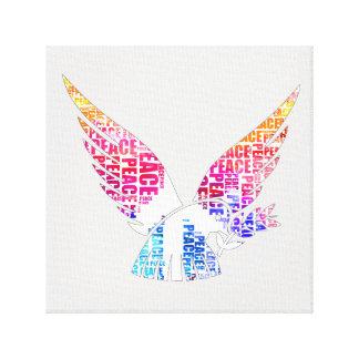 Peace Dove. Harmony Hippie Watercolor Canvas Print