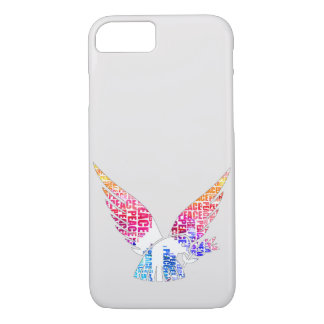 Peace Dove. Harmony Hippie Watercolor iPhone 8/7 Case