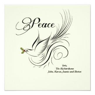 Peace Dove - Holiday Card 13 Cm X 13 Cm Square Invitation Card
