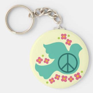 Peace Dove Key Ring