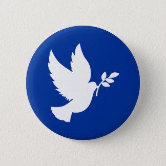 Peace Dove Silhouette 6 Cm Round Badge