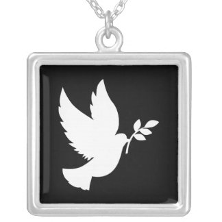 Peace Dove Silver Plated Necklace