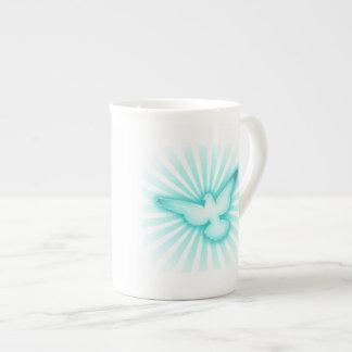 Peace dove porcelain mug