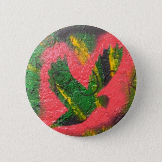 Peace Dove Stencil 6 Cm Round Badge