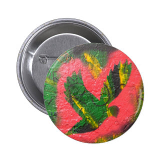 Peace Dove Stencil 6 Cm Round Badge