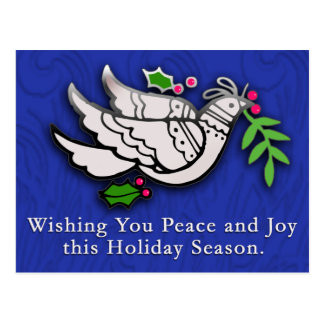 Peace Dove with Holly Cards, Postcards, Stickers Postcard