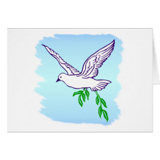 Peace Dove with Olive Branch Card