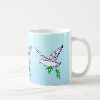 Peace Dove with Olive Branch Coffee Mug Coffee Mug