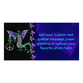 Peace Dragon Photo Card Template