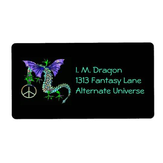 Peace Dragon Shipping Label