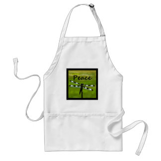 Peace Dragonfly Adult Apron