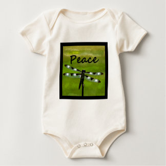 Peace Dragonfly Baby Bodysuit