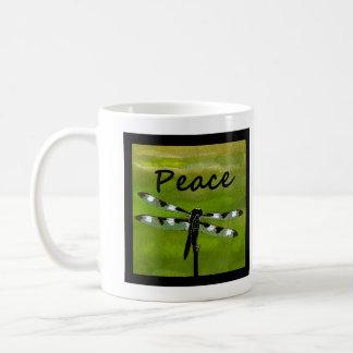 Peace Dragonfly Basic White Mug