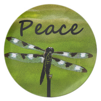 Peace Dragonfly Dinner Plates