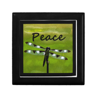 Peace Dragonfly Keepsake Boxes