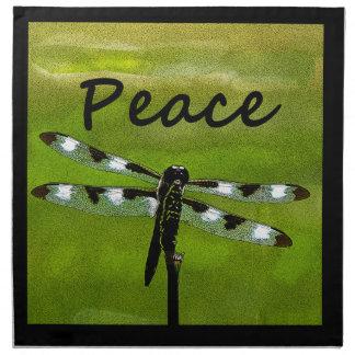 Peace Dragonfly Napkin