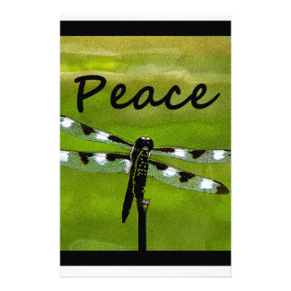 Peace Dragonfly Personalized Stationery