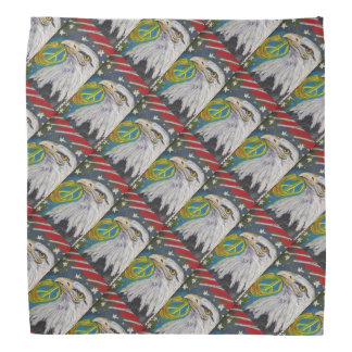 Peace Eagle Patterned Bandanas