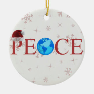 Peace Earth Christmas Ornament