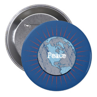 Peace Earth Globe Button