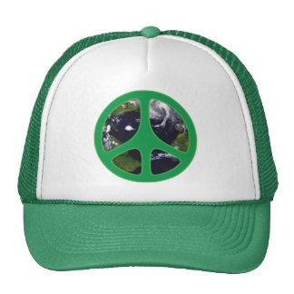 Peace Earth Mesh Hats