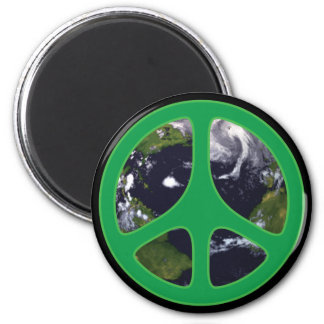 Peace Earth Refrigerator Magnets