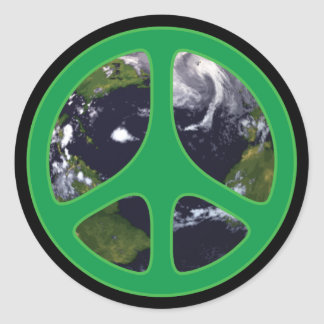 Peace Earth Round Stickers