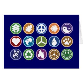 Peace & Eco Symbols Greeting Card