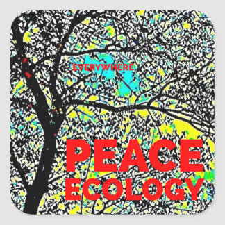 Peace Ecology Square Sticker