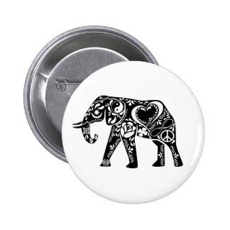 Peace Elephant 6 Cm Round Badge