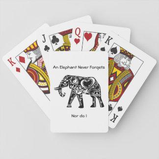 Peace Elephant Poker Deck