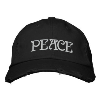 PEACE EMBROIDERED HAT