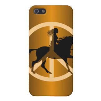 peace equestrian iPhone 5 cases