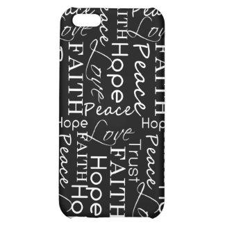 Peace, Faith, Hope iPhone 5C Cover