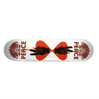 Peace Fingers Custom Skate Board