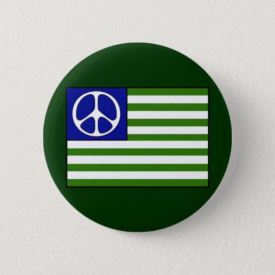 Peace Flag 6 Cm Round Badge