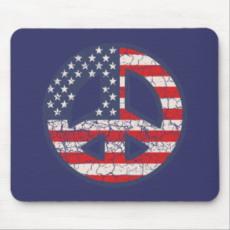 Peace-Flag-dist Mouse Pad