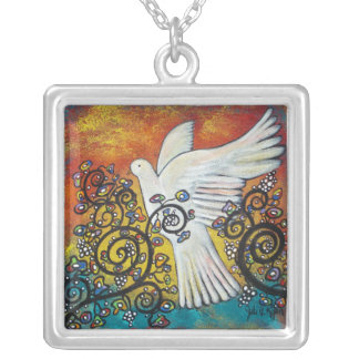 Peace Flew In Dove Necklace